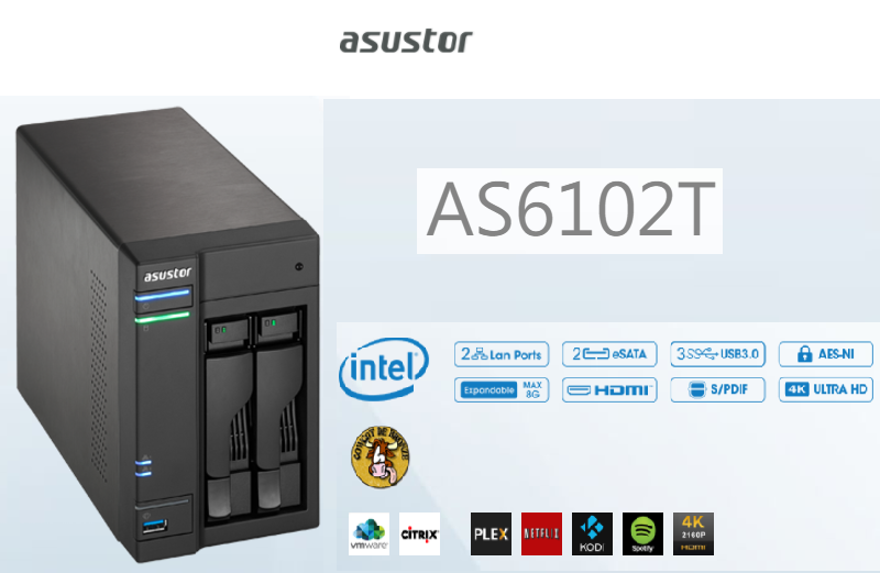 Asustor AS6102T ~The World's First High Performance Intel Braswell NAS Featuring 4K Playback