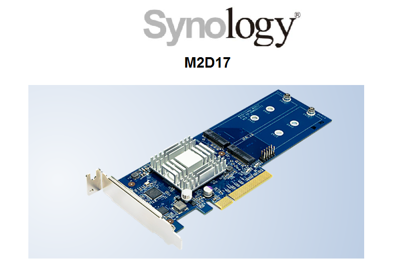 Synology M.2 SSD Adapter M2D17