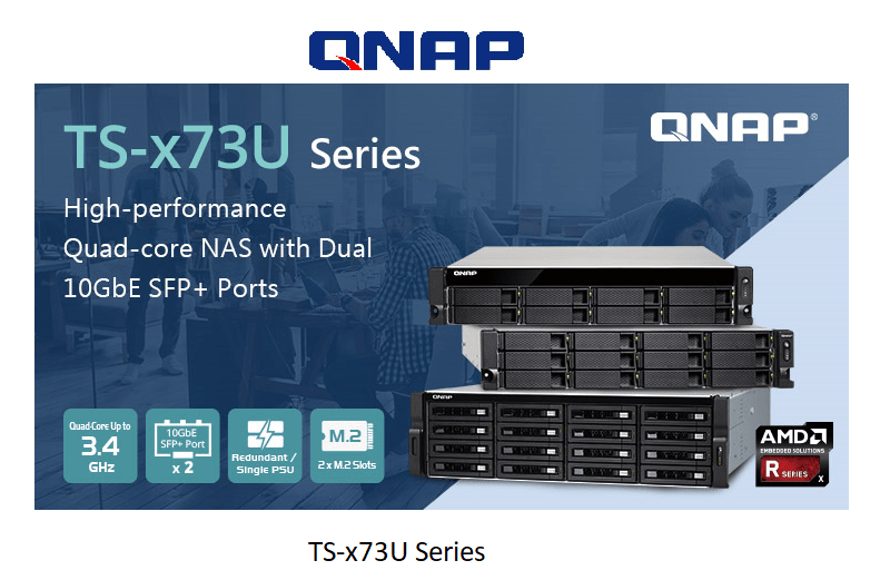 QNAP Launches TS-x73U Rackmount NAS