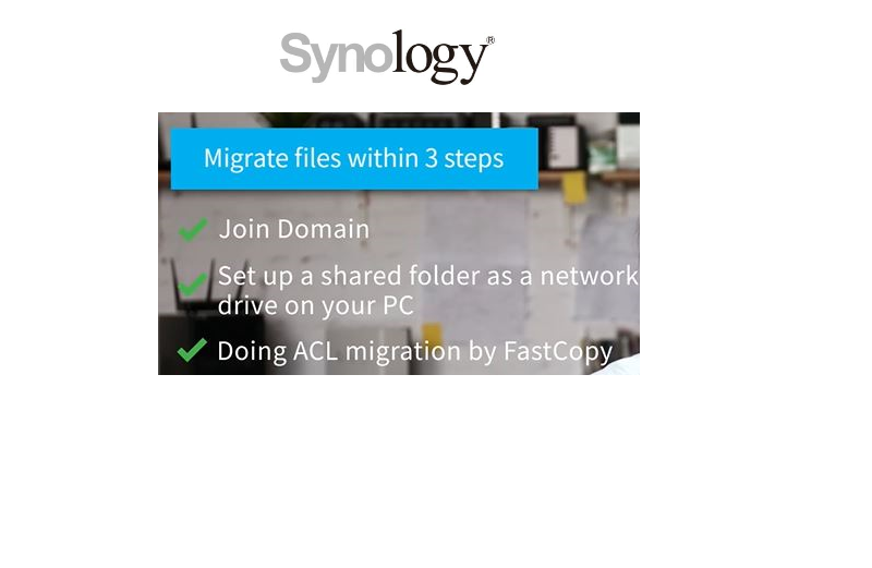 Migrate your Windows File Server to Synology NAS in 3 steps