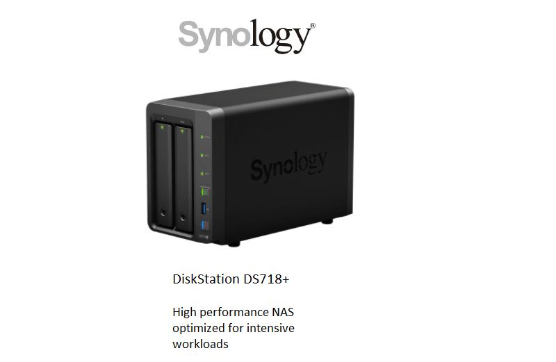 Synology  DS718+  High performance NAS optimized for intensive workloads
