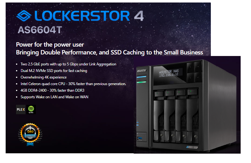 Asustor Lockerstor 4 AS6604T